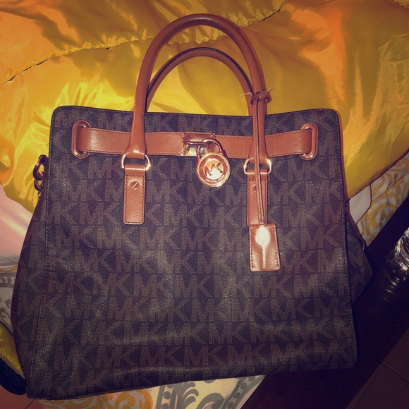 76c9b835ed8 MICHAEL Michael Kors Bags   Authentic Mk Large Tote With Matching ...